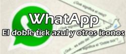 whatsaapp doble tick azul y otros iconos